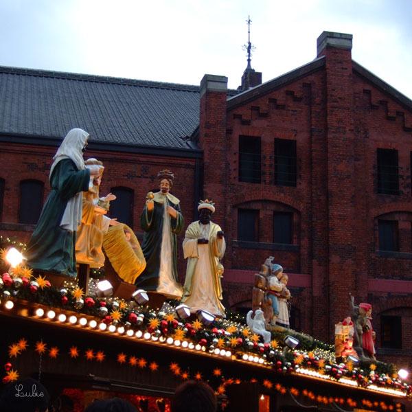 Petit marché de Noël à Yokohama, Japon
